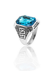 Ring Daily Casual Jewelry Crystal Alloy Ring 1pc,8 9 10 11 Ocean Blue