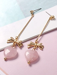 Stud Earrings Drop Earrings / Gem Alloy Heart Candy Pink Jewelry Daily Casual 1 pair