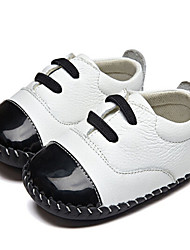Girls' Baby Flats First Walkers Leatherette Summer Casual Outdoor Walking First Walkers Magic Tape Low Heel White Flat