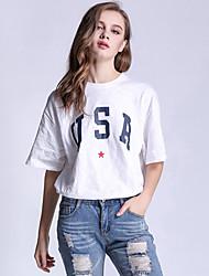 unterzeichnen Frauen T-Shirt Mantel Größe&# 39; s europäischen und amerikanischen Handel amazon ebay aliexpress Brief lose