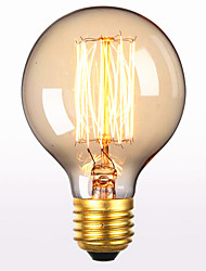 G80 ac 60w e27 personnalité d'art créatif rétro fil droit décoratif ampoule edison de 1pcs