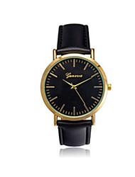 Men's Sport Watch Quartz / Leather Band Vintage Black Brown