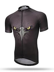 XINTOWN® Men's Summer Short Sleeve Grey Mountain Cycling Jersey Road Bike Jersey Novelty Cycling Wear Eagle Eye