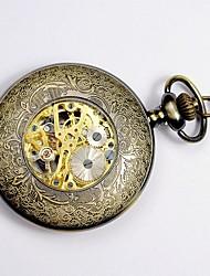 Unissex Relógio de Bolso Quartzo Mostrador Grande Lega Banda Vintage Amarelo Amarelo