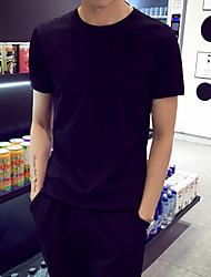 Sommer Männer&# 39; s Kurzarm-T-Shirt mit Rundhals-Shirt mitfühlend Normallack Kurzhülse T-Shirt Männer koreanischen dünnen Zustrom
