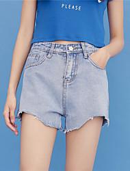 Zeichen Taille blaue koreanische Version war dünn wilde breite Bein Denim schließt weibliche Shorts