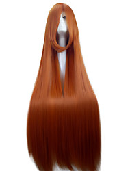 Fashion 110cm Orange  Cosplay Wig  Super Long  Straight  Synthetic Hair  Costume Party Wig