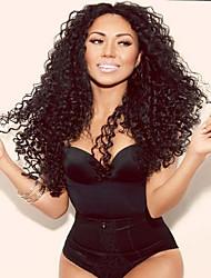 26inch grandes parte do meio naturais humana cabelo virgem barata rendas frente perucas excêntricas encaracolado afro glueless brasileiros