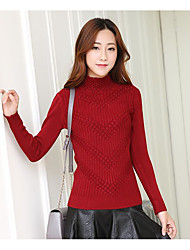Sign 2016 fall and winter clothes new Korean hot drilling Slim sweater bottoming shirt female half turtleneck