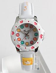 Modeuhr Quartz / PU Band Heart Shape Bequem Weiß Marke
