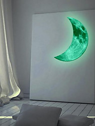 The View Crescent Luminous Wall Sticker Vinyl Material Home Decoration