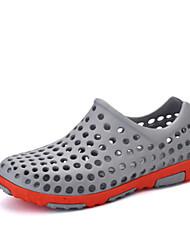 Herren-Sandalen-Lässig-PULoch Schuhe paar Schuhe-Grau Hellbraun Königsblau