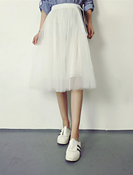 Sign new winter Korean version of the solid color gauze tutu skirts and long sections