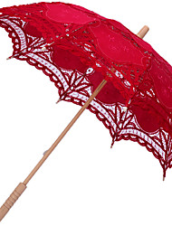Red/Black Elegant Lace Embroidered Wedding Bridal Umbrella Parasol  Romantic Wedding Umbrella Lady Costume Accessory Bridal Party Decoration