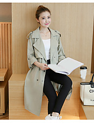Sign Spring 2017 women's new big money with big yards long section of thin windbreaker jacket female tide