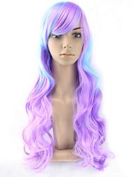 corps vague couleur de mélange cosplsy perruques chaleur couleur ombre perruques vague résistante cheveux perruques lolita