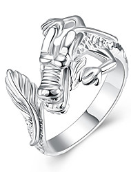 925 Jewelry Silver Plated Ring Fashion Opening Dargon Head Ring Women&ampMen Gift Silver Jewelry Finger Rings R054