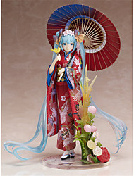 Figures Animé Action Inspiré par Vocaloid Hatsune Miku PVC 22 CM Jouets modèle Jouets DIY