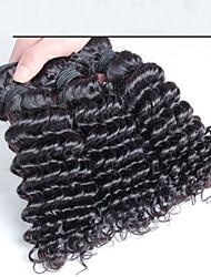 3 шт / много дешевые необработанный Малайзии волосы ткать, ткать Малайзии волосы вьющиеся волосы Deeo волнистых