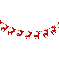 RayLineDo® 1 Piece Red Garland For Wedding Birthday Anniversary Party Christmas Girls Room Decoration Deer Shape
