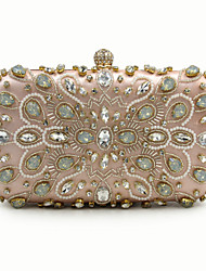 L.west Women Elegant High-grade Luxury Diamonds Beaded Evening Bag