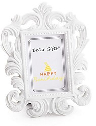 White Resin Photo Frame Place Card Holder Beter Gifts® Wedding Decoration