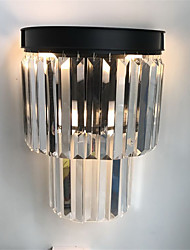American Country Style Crystal Wall Lights Living Room Dining Room Bedroom Hotel rooms Bedside Lamp Wall Sconces