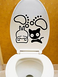 Cartoon Abstract Wall Stickers Plane Wall Stickers Decorative Wall Stickers Toilet Stickers,Paper Vinyl Material Home DecorationWall