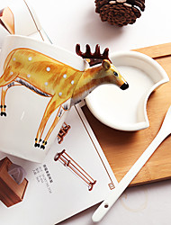 3D Animal Series Drinkware, 400 ml Decoration Ceramic Milk Water Coffee Mug