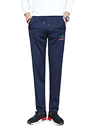 Men's Plus Size Slim Skinny Chinos Sweatpants Pants,Casual/Daily Club Sports Simple Street chic Active Solid Low Rise Drawstring Cotton