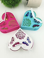 50pcs/lots Laser Cut 3D Butterfly Wedding Favor Box Candy Box Gift Box Wedding Favors And Gifts Box For Guest Party Supplies