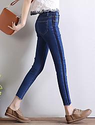 signer 2017 printemps et d'été des jeans couleur sort stretch pieds peigne de flux de déchets collants