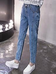 Sign 2017 new Korean elastic waist jeans cowboy bars was thin female small harem pants feet pants