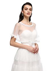 Женская накидка Пончо Тюль Для свадьбы Вечерние В сборку