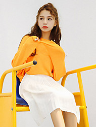 Sign spot # small fresh College Wind Korean short in front long sleeve knit sweater head