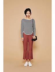 nouveaux automne sauvages modèles simples korean confort solide corne fendue collants