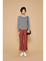 New Korean wild autumn simple models solid comfort horn split pantyhose