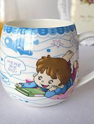 Cartoon Drinkware, 300 ml Decoration Heat-Insulated Ceramic Tea Juice Daily Drinkware