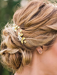 Women's Alloy Imitation Pearl Headpiece-Wedding Special Occasion Casual Hair Clip Hair Pin Hair Stick 2 Pieces