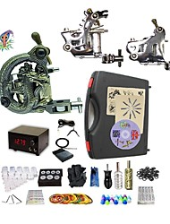 Complete Tattoo Pearl III 3 Machines With Digital Power Supply  Liner & Shader Inks
