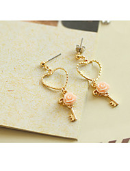 Non Stone Stud Earrings Drop Earrings Jewelry Daily Casual Alloy Gold Plated 1 pair Yellow Gold