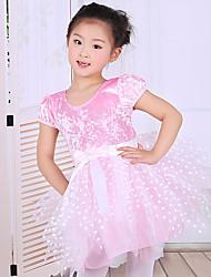Dovremo fasciare il poliestere del vestito da ballo di balletto dei bambini / archi di legatura 1 dancewear di un pezzo