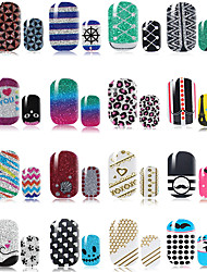 10pcs Nail Art Sticker  3D Nail Stickers Makeup Cosmetic Nail Art Design