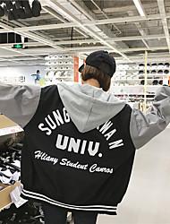 знак печать бейсбол равномерное студент куртка с капюшоном