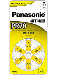 Panasonic PR-70CH Button Cell Lithium Battery 3V 6 Pack