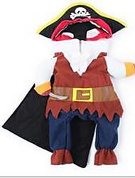 Chien Costume Manteaux Multicouleur Vêtements pour Chien Printemps/Automne Britannique Cosplay