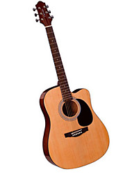 Clevan Guitar 41 Inch For Beginners Matting String Musical Instrument Gig Bag