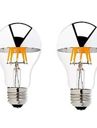 6W B22 E26/E27 Ampoules à Filament LED G60 6 COB 600 lm Blanc Chaud Gradable AC 100-240 AC 110-130 V 2 pièces