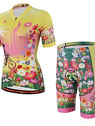 Maillot et Cuissard de Cyclisme Unisexe Manches courtes Vélo Maillot Shorts Rembourrés Cuissard  / ShortRespirable Matériaux Légers La