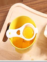 Plastic Egg Yolk Separator Practical Kitchen Utensils Classic Theme White 13 * 6.5